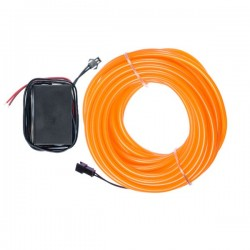Néon flexible tuning auto orange 12 volts de 10m