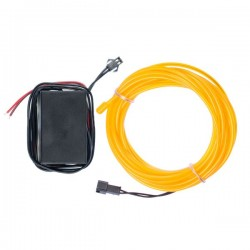 Néon flexible tuning moto jaune 12 volts de 5m