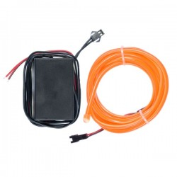 Néon tuning auto flexiforme orange 12 volts de 2m