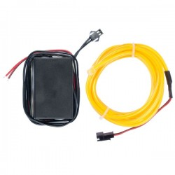 Néon tuning PC flexiforme jaune 12 volts de 2m