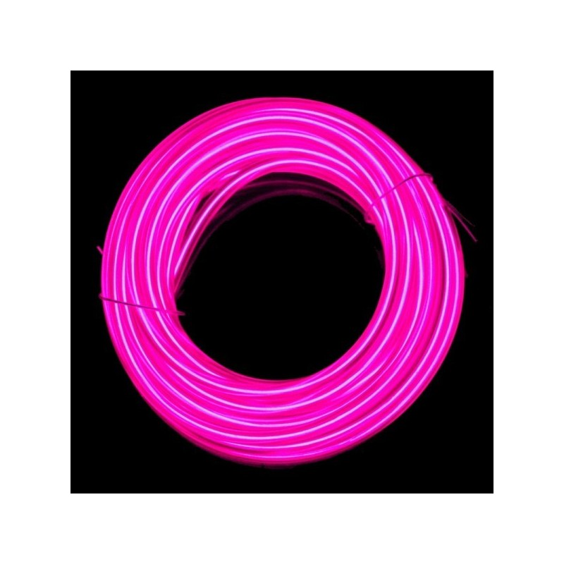 Neon flexible tuning auto rose + capteur de son - 5m - diam. 3mm