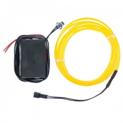 Néon flexible tuning auto jaune 12 volts de 2m