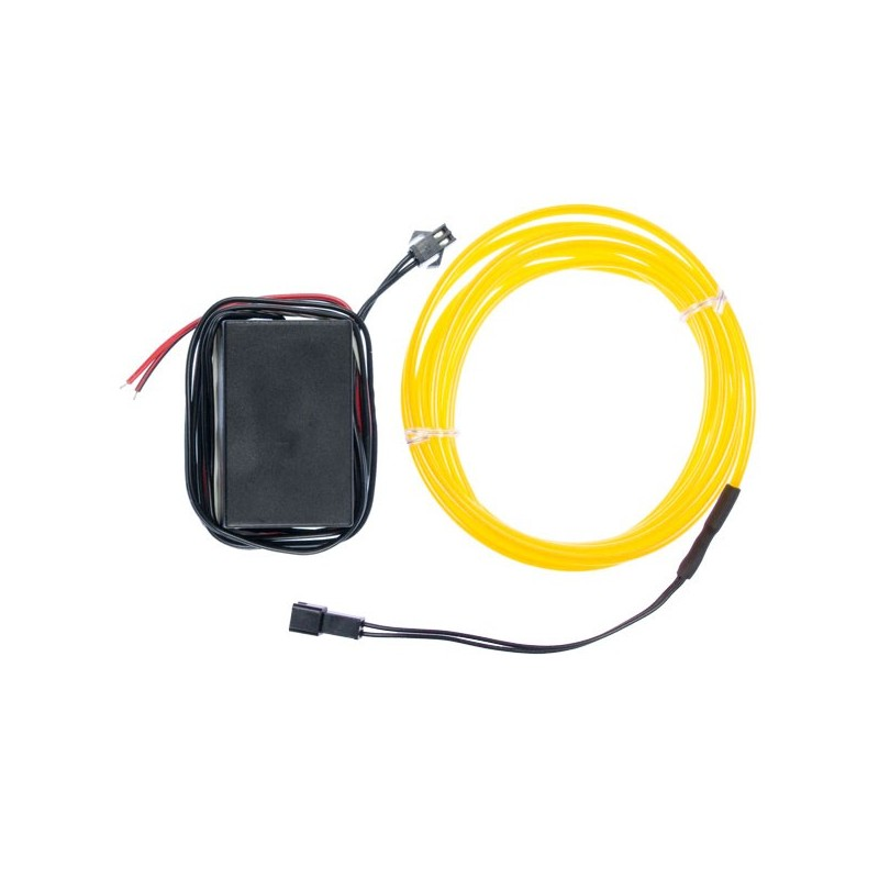 Neon flexible tuning auto jaune - transformateur 12V - 2m