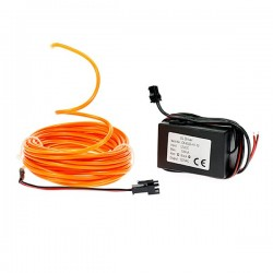 Néon tuning auto flexiforme orange 12 volts de 5m