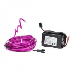 Néon tuning PC flexiforme violet 12 volts de 5m