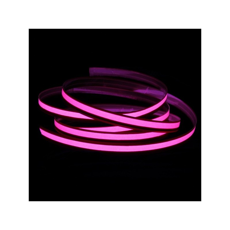 Bande électroluminescente rose 2m