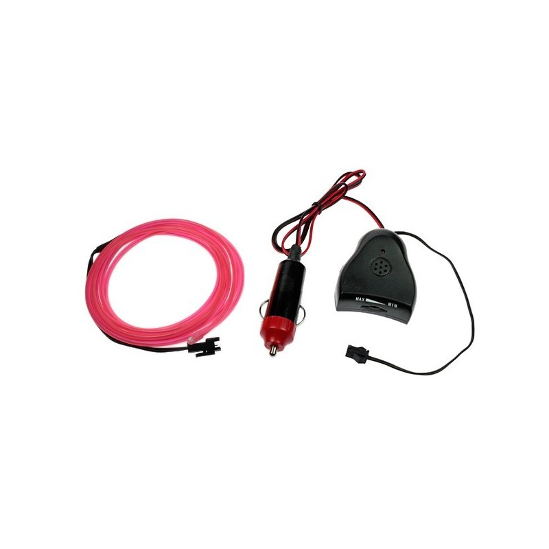 Neon flexible tuning auto rose + capteur de son - 2m