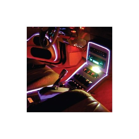 Neon flexible tuning auto bleu interieur