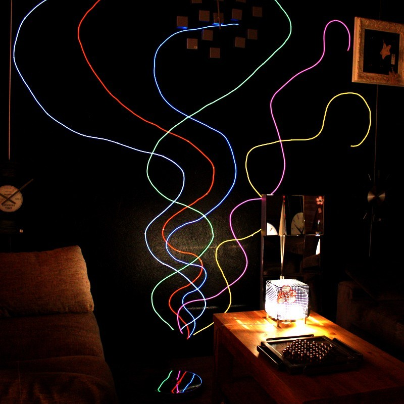 Neon flexible deco maison mur